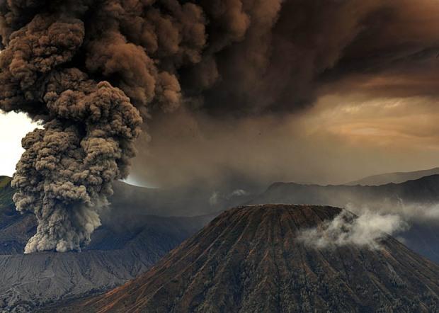 mt-bromo-eruption-and-mt-batok-east-java-indonesia